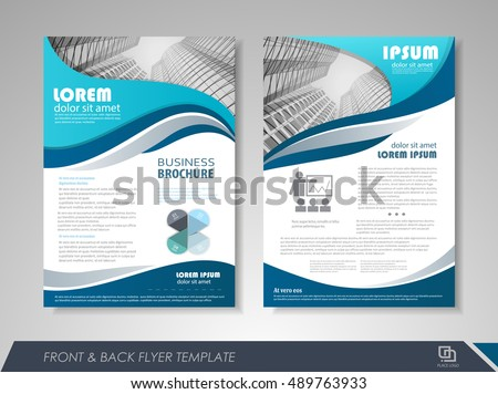 brochure front cover design - professional business catalog template corporate brochure