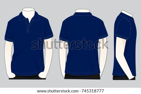 blue black white polo design stock vector 676339927
