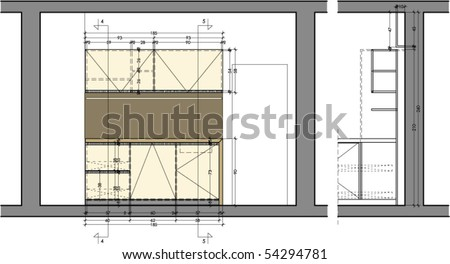 "Furniture Drawings al-xvadinska's ""interior furniture drawings"" set on shutterstock"