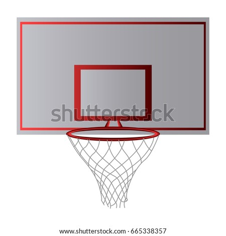 Basketball hoop front view