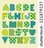 fun alphabet design. vector illustration - stock vector