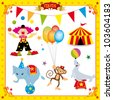 Fun Circus Set. fun circus icons for you - stock vector