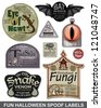 Fun Halloween Spoof Vector Labels.  Bring a smile to your Halloween party with these great unique labels. - stock vector
