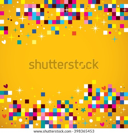 fun pixel squares background design element