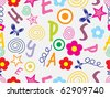 funky alphabet background illustration - stock vector