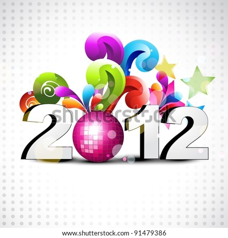 funky new year vector style background