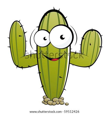 Mexican Cactus Clipart Funny cartoon cactus - stock