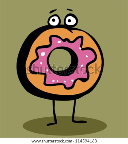 Cute Donuts Cartoon Cute Cartoon Donuts With Faces