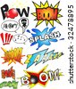 Funny comic book sounds vector - stock vector