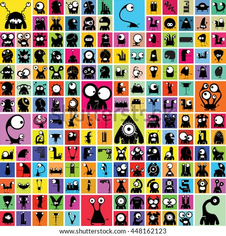 Funny Monsters - vector set