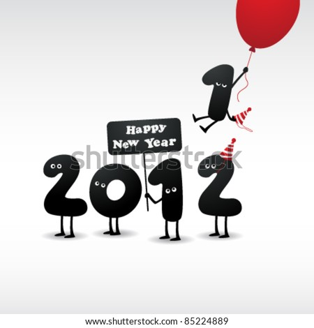 Funny 2012 New Year's Eve greeting card