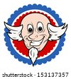 Funny Uncle Sam Face Cartoon Vector - stock vector