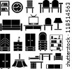 furniture icons set, vector - stock vector