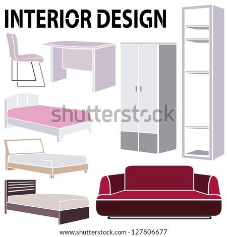 Home Interior Pink Sofa Big Window Stock Vector 584248891