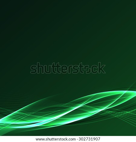 Futuristic speed power fusion green wave abstract beautiful swoosh line background. Vector illustration