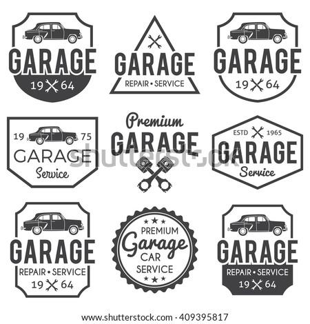 car service labels stock vector 469522223 shutterstock. Black Bedroom Furniture Sets. Home Design Ideas