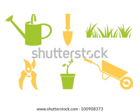 Garden Objects U0026 Design Elements Isolated On White