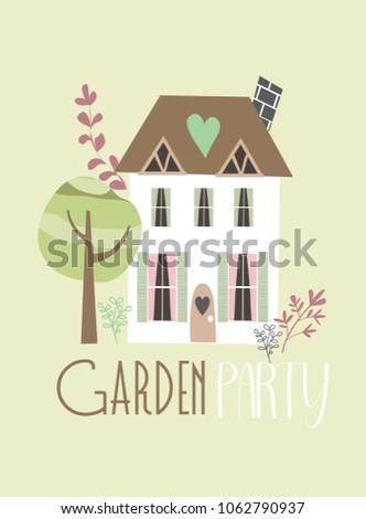Garden party invitation stock vector 448709320 shutterstock garden party invitation card stopboris Choice Image
