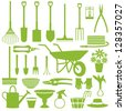 Gardening related icons 1 - stock vector