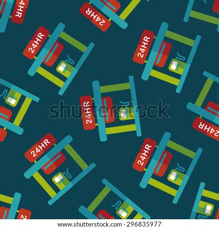 gas station flat icon,eps10 seamless pattern background