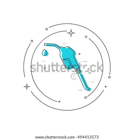Gasoline Pump Nozzle Sign Gas Station 533081323