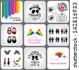 Gay & Lesbian LGBT Icons and Design Elements - stock photo