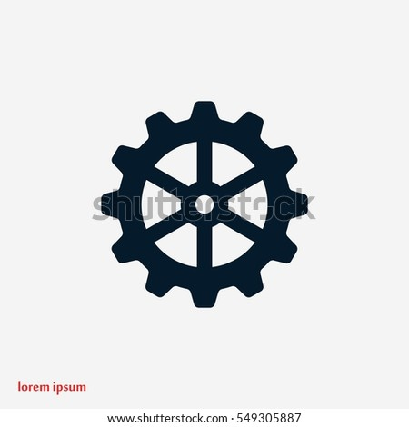 gear icon vector, flat design best vector icon