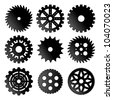 Gears icon set - stock vector