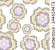 gentle flower vector background. Seamless texture - stock