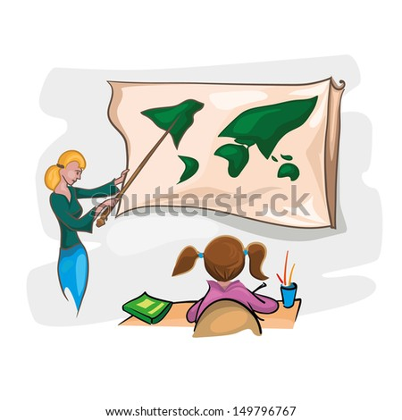 ... Pictures child doing math homework royalty free clip art picture