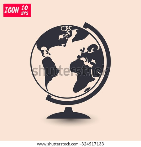 geography school earth globe  icon. Vector  Eps 10