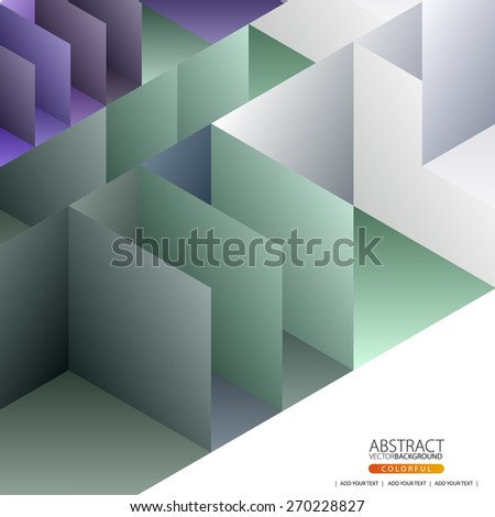 Geometric abstract background for design