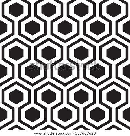 Geometric hexagon seamless ornament. Abstract background. Vector Illustration