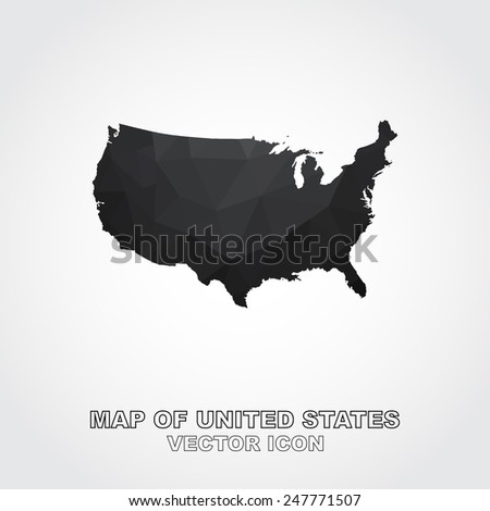 Map United States Icon Vector Stock Vector Shutterstock - Us map with states vector