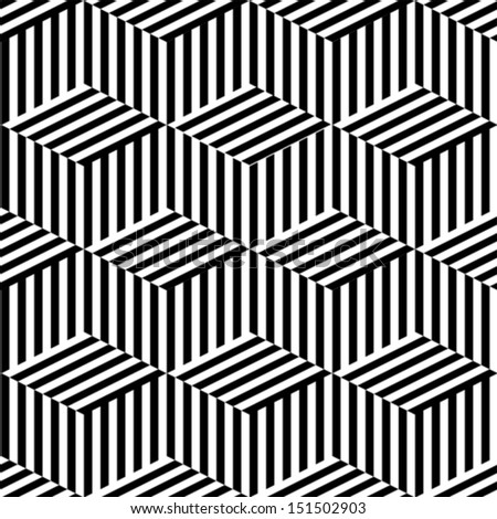 Geometric seamless black and white