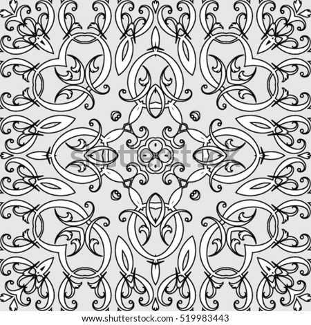 Geometric seamless patterns. Endless vector texture can be used for wrapping wallpaper, pattern fills, black And white, web page, background, surface, oriental Style. seamless vector backgrounds.