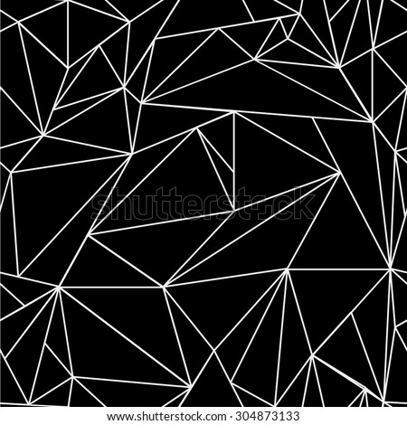 Geometric Simple Black White Minimalistic Pattern Stock