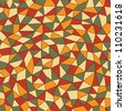Geometrical seamless pattern with triangles and rectangle. Mosaic endless pattern - stock vector