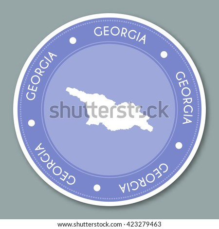 Florida Label Flat Sticker Design Patriotic Stock Vector - Georgia map label