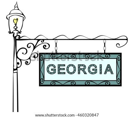 Georgia retro pointer lamppost.