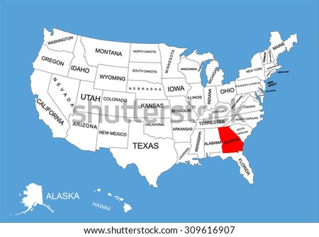 Wisconsin State Usa Vector Map Isolated Stock Vector - Georgia state usa map