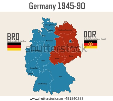 germany cold war map flags eastern stock vector 481560253 shutterstock. Black Bedroom Furniture Sets. Home Design Ideas