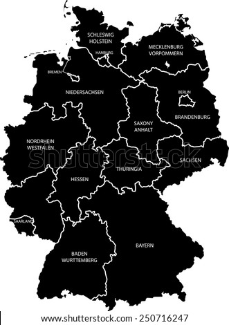 Germany Map Stock Vector Shutterstock - Germany map image