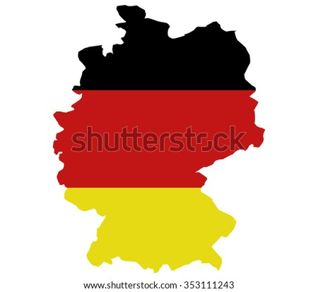 Germany map on a white background
