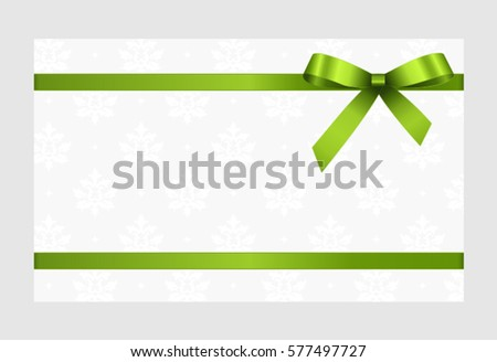 Gift Card Red Ribbon Bow Gift Vector 537467425 Shutterstock – Voucher Card Template