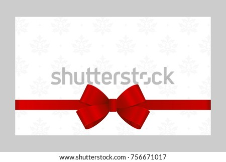Letter envelope decorated red ribbon bow stock vector 551635750 gift card with red ribbon and a bow on white background gift voucher template with stopboris Choice Image