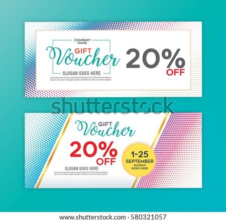 Gift Voucher Discount Voucher Template Vector Vector – Voucher Design
