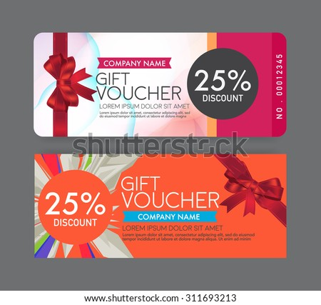 Gift Voucher Template.  Discount Coupons Templates