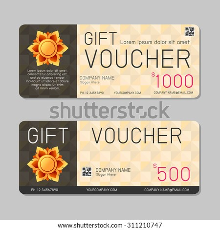 Gift voucher gift certificate coupon template stock vector gift voucher template and modern pattern voucher template with premium pattern gift voucher template yelopaper Choice Image