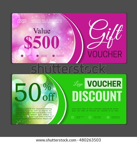 Vector Illustration Discount Voucher Template Clean Vector – Discount Coupon Template